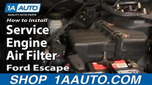 How To Install Replace Service Engine Air Filter Ford