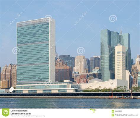 siege des nations unies complexe de siège des nations unies de l 39 onu comme vu de