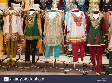 Colourful Indian Clothes For Sale In The Tekka Centre