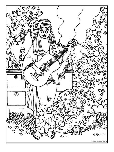 72 best Hippie Art + Peace Signs Coloring Pages for Adults