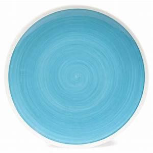 Assiette Plate Originale : assiette plate en fa ence bleue d 26 cm cyclades maisons du monde ~ Teatrodelosmanantiales.com Idées de Décoration