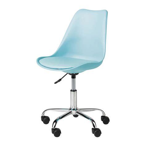 chaise de bureau bleue bristol maisons du monde