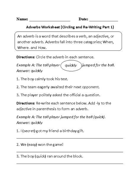 adverbs worksheets regular adverbs worksheets