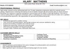 resume objective statement for construction management customer service cv sle