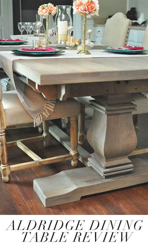 restoration hardware style dining table