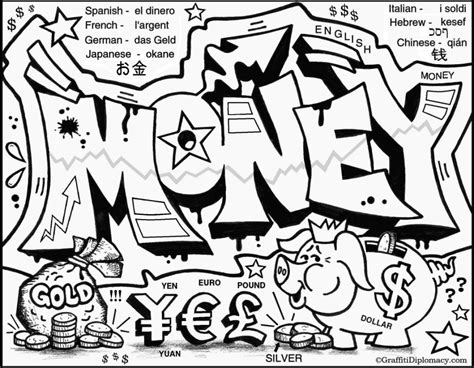 Graffity Kleurplaat by Graffiti And Politics Coloring Pages Learning And