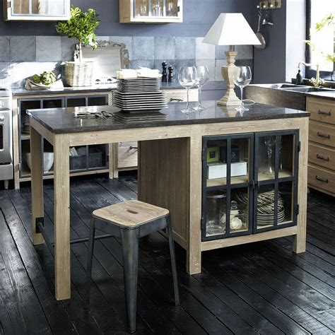 ilot central en bois recycle   cm copenhague maisons du monde arredamento pinterest