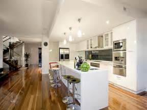 australian kitchen ideas floorboards in a kitchen design from an australian home kitchen photo 131974
