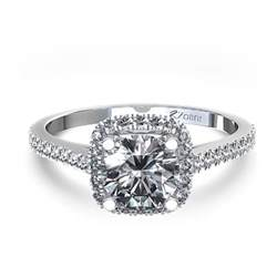 style engagement rings halo style cushion cut engagement ring in 14k white gold canada