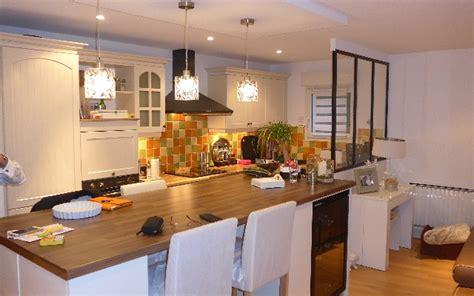 cuisine ouverte sur salon 30m2 réalisation d 39 une cuisine ouverte avec création îlot