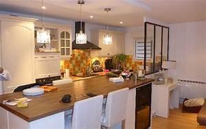 idee amenagement cuisine ouverte sur salon 11 With idee amenagement cuisine ouverte