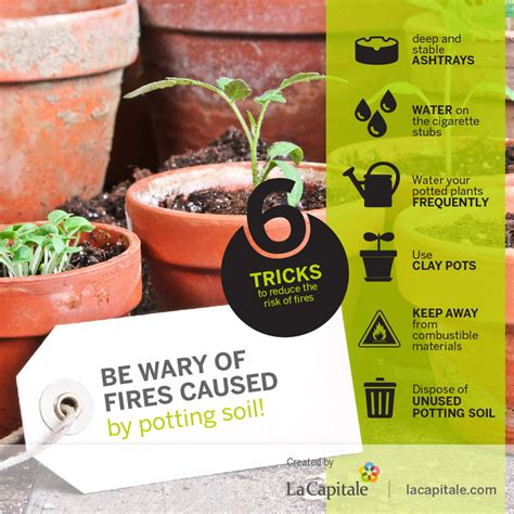 be wary of fires caused by potting soil la capitale
