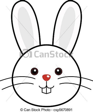 birthday invitation vector clip of rabbit vector faces