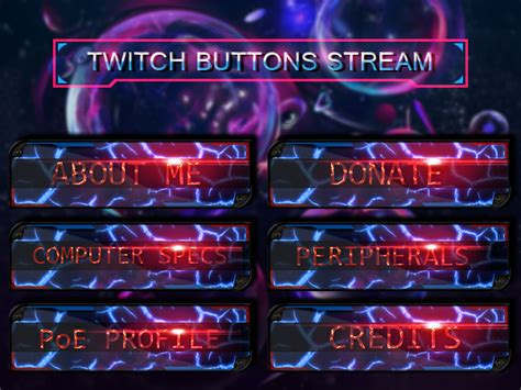Panel Buttons Twitch Stream By Arcaste On Deviantart