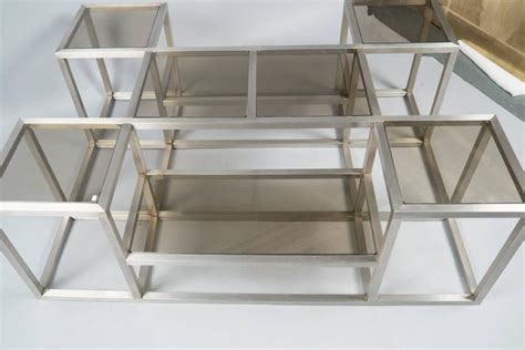 multi level coffee table steel multi level structured coffee table france 1970s