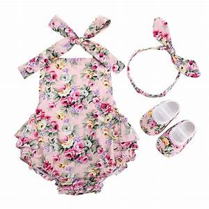 Aliexpress.com : Buy Floral New Born Baby Infant Girl ...