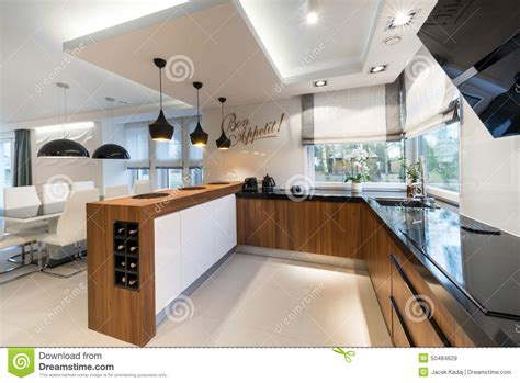 modern interior design kitchen modern kitchen interior design stock image image of 7631