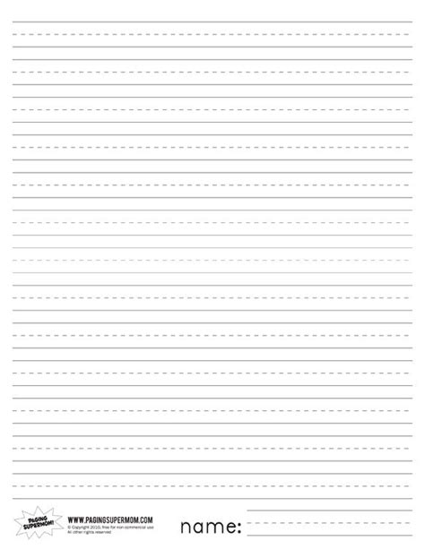 printable primary lined paper lined writing paper