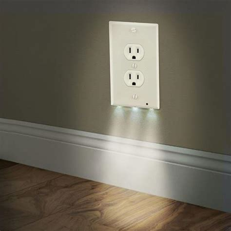 led light wall outlet 3 led decor light plug cover wall outlet