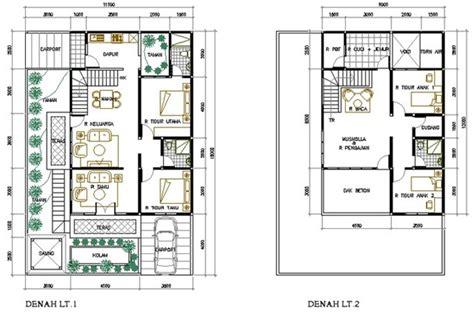 denah rumah mewah 2 lantai gambar desain rumah 2453