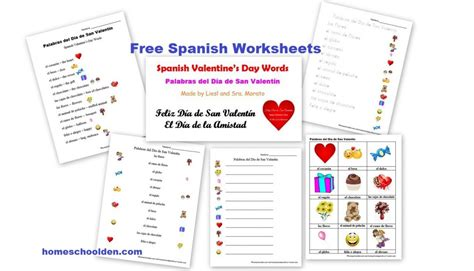 free spanish worksheets valentine s day d 237 a de san