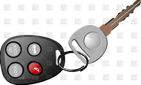 Car Key With Remote Control For Car Alarm Vector
