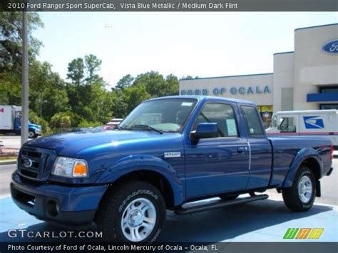 vista blue metallic  ford ranger sport supercab