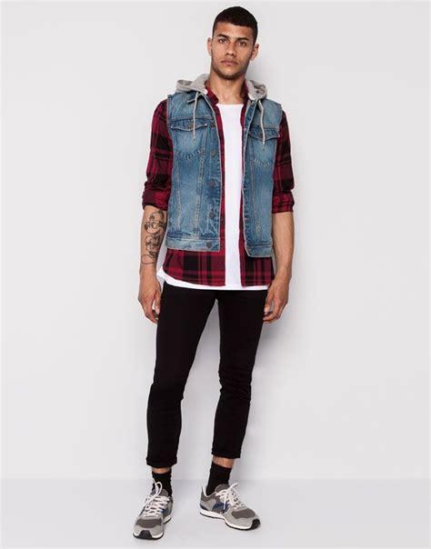 CHALECO DENIM CAPUCHA FELPA   Outfits/ Ropa   Pinterest   Man style