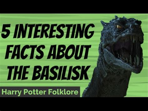 interesting facts   basilisk youtube