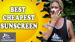 Best Cheap Sunscreen - Sun Protection - Surf Lessons
