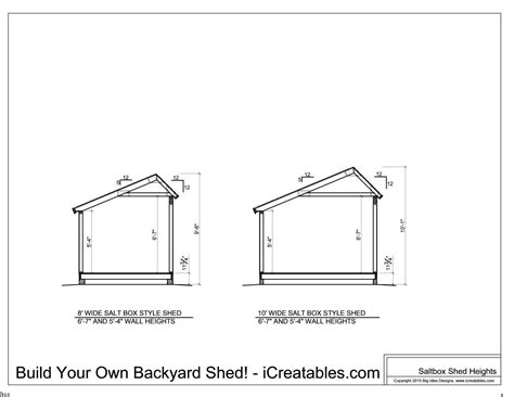 10 x 14 saltbox shed plans shed plans heights find out how your shed will be