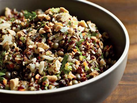 red quinoa  lentil pilaf recipe akasha richmond