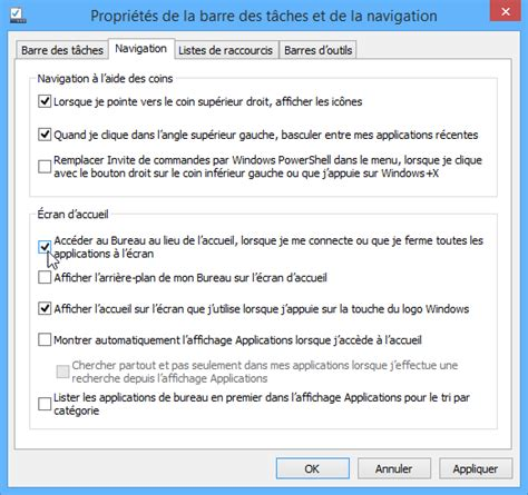 windows 8 1 bureau démarrer windows 8 1 sur le bureau