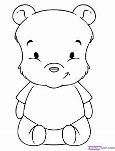 How To Draw Baby Pooh Step By Step Disney Characters