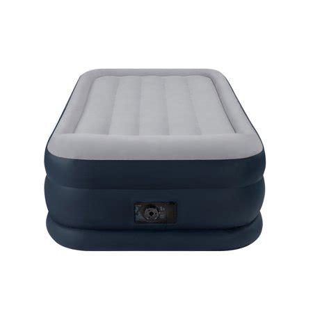 intex air mattress walmart intex deluxe pillow rest raised soft flocked air