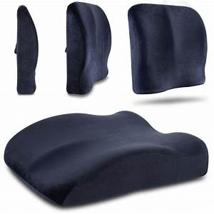 memory foam lumbar cushion seat wedge elastic strap chair With back wedge pillow for chair