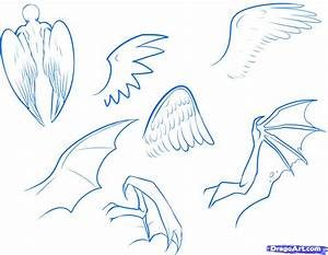 How to Draw Anime Wings, Draw an Anime Angel, Step by Step ...
