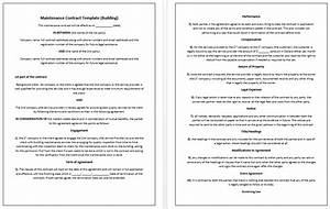 5 free maintenance contracts samples and templates With building contracts template