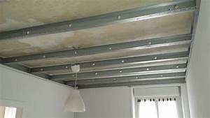 Faux Plafond Placo Sur Rail : isolation faux plafond ~ Melissatoandfro.com Idées de Décoration