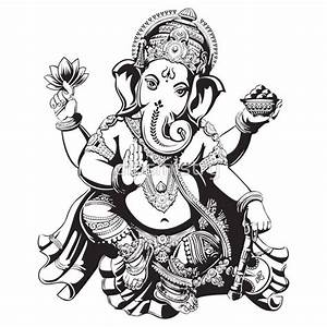 Black and White Ganesh | ganesha tattoo black and white ...