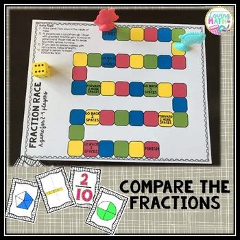 comparing fractions board game  loving math teachers