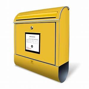Deutsche Post Briefkasten Kaufen : wandbriefkasten stahl briefkasten gelb briefkasten real ~ Michelbontemps.com Haus und Dekorationen