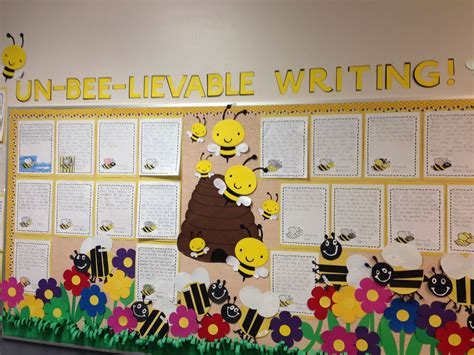 spring bulletin board bee lievable writing bumble bees