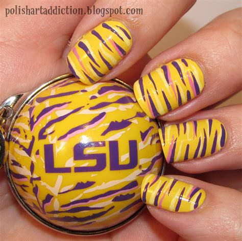 jmu colors day nails but in jmu colors my style