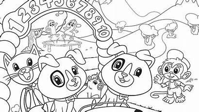 Coloring Leapfrog Pages Scout Age Numberland Friends