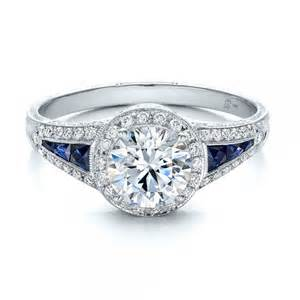 saphire engagement ring halo and blue sapphire engagement ring 100391 bellevue seattle joseph jewelry