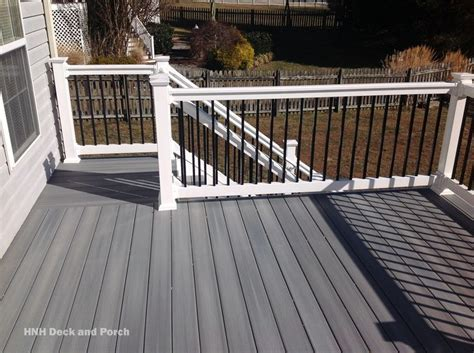 Composite deck using @fiberondecking castle grey decking