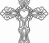 Coloring Pages Cross Wings Cool Jesus Carrying Drawing Getcolorings Crosses Printable Roses Clipartmag sketch template