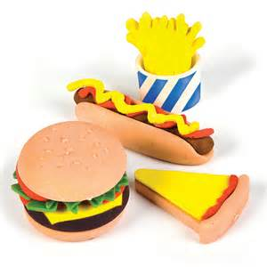 fast food pencil erasers low cost novelty stationery
