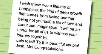 write  wedding speech  steps  pictures